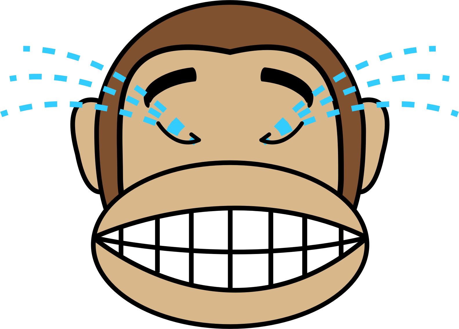 Laughing clipart image royalty free library Clipart - Monkey Emoji - Laughing out loud image royalty free library