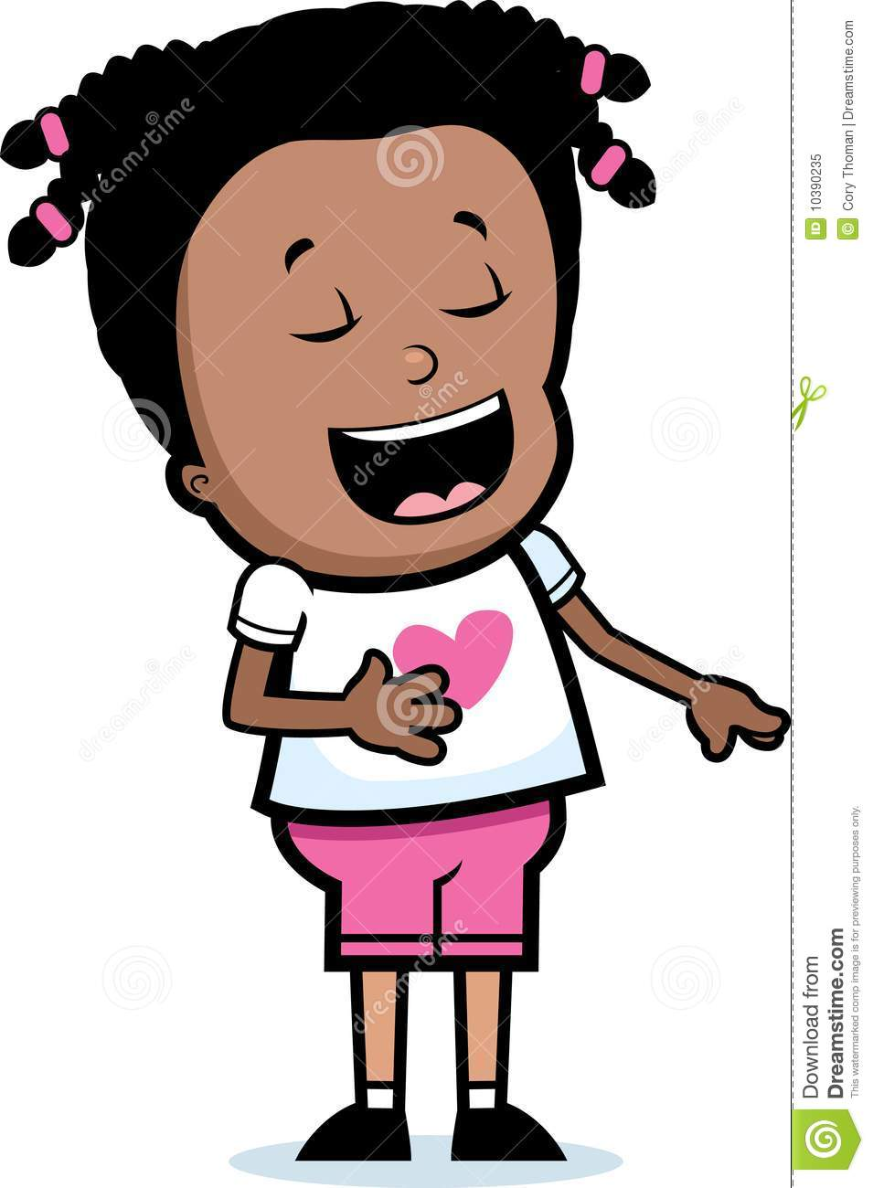 Laughing girl clipart image free Girl Laughing Royalty Free Stock Photo - Image: 10390235 image free