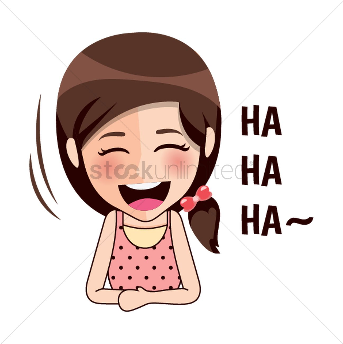 Laughing girl clipart svg black and white library Cartoon girl laughing Vector Image - 1957234 | StockUnlimited svg black and white library
