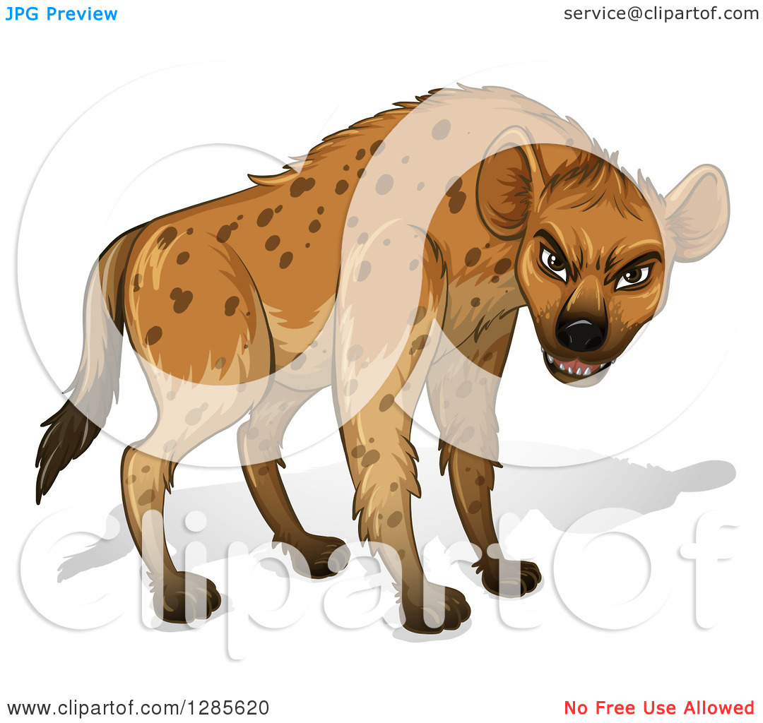 Laughing hyena clipart png black and white Clipart of a Laughing Hyena Facing Right - Royalty Free Vector ... png black and white