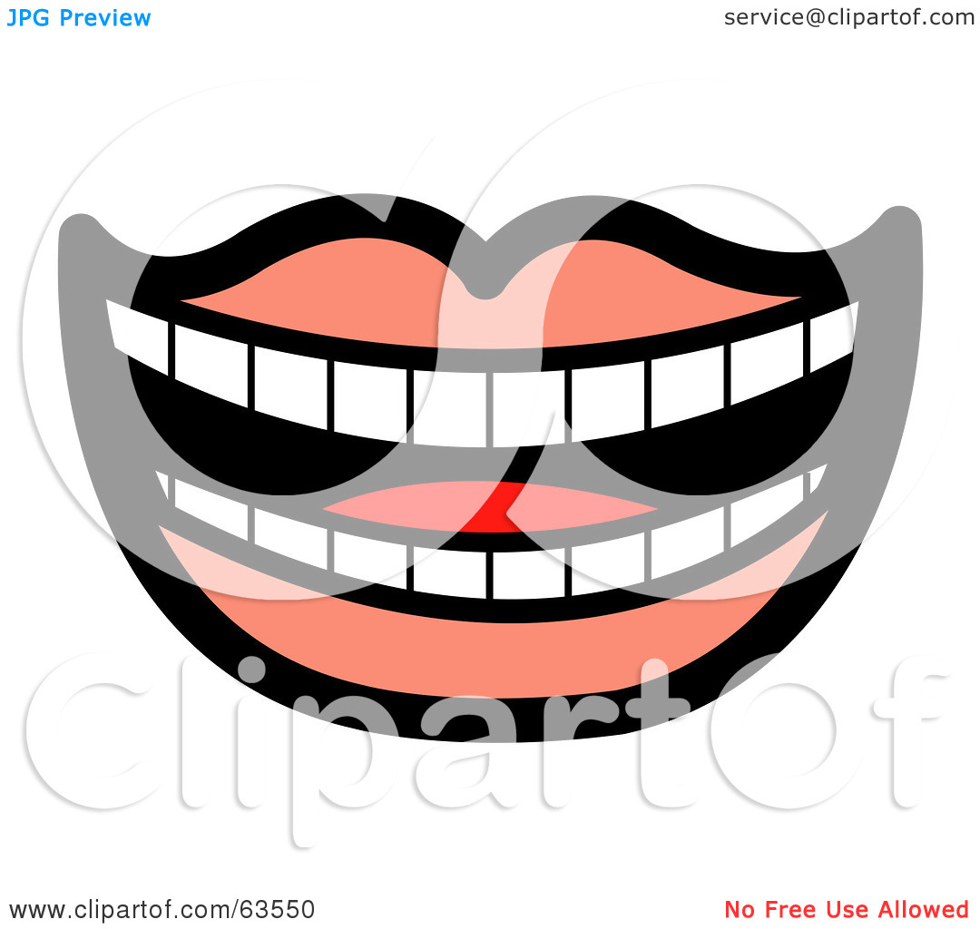 Laughing mouth free clipart clip art library library Royalty-Free (RF) Clipart Illustration of a Laughing Mouth Lined ... clip art library library