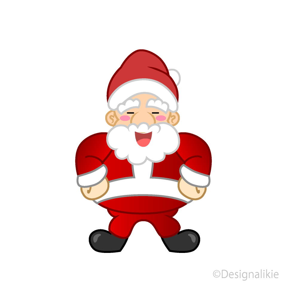 Santa laughing clipart image freeuse library Laughing Santa Clipart Free Picture|Illustoon image freeuse library