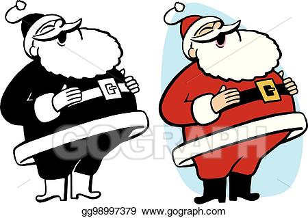 Santa laughing clipart png royalty free stock EPS Illustration - Santa claus laughing. Vector Clipart gg98997379 ... png royalty free stock