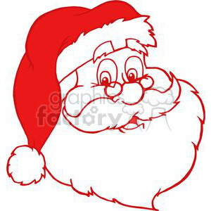 Laughing santa clipart picture library red Santa Claus outline clipart. Royalty-free clipart # 381425 picture library