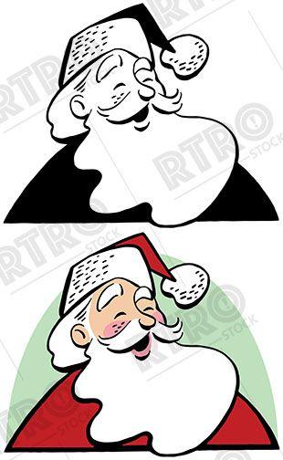 Laughing santa clipart clip art freeuse A cartoon portrait of a laughing Santa Claus vintage retro Christmas ... clip art freeuse