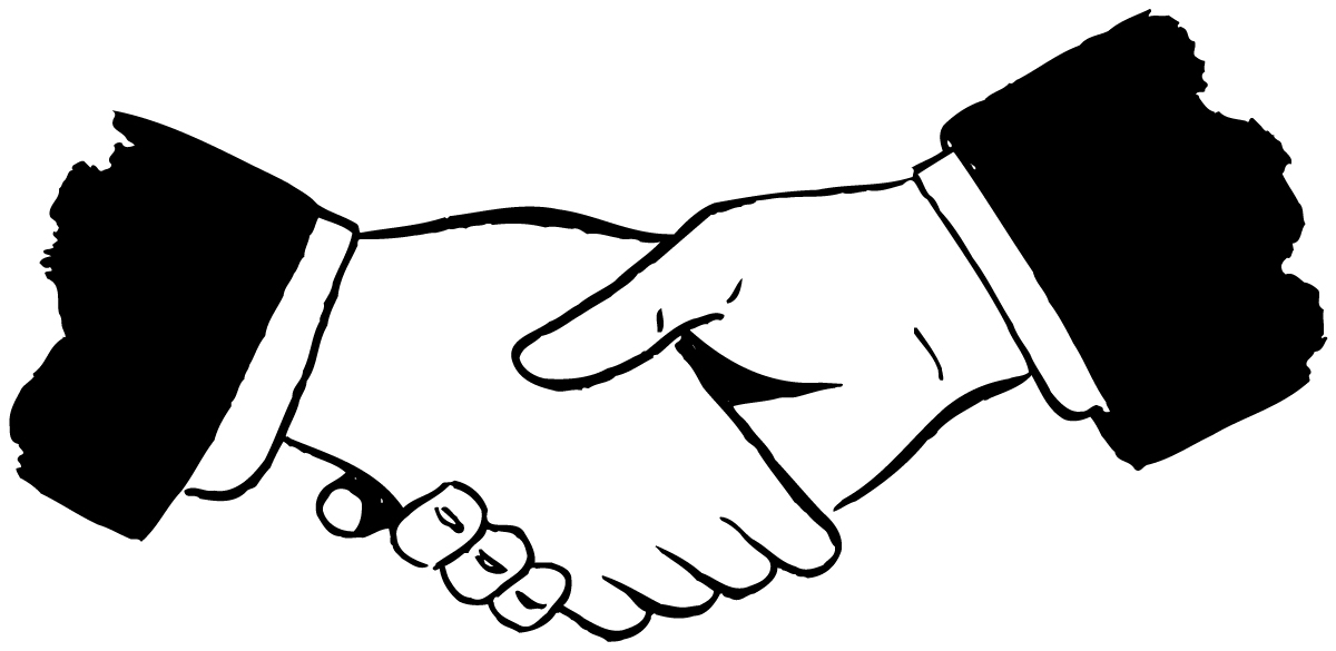 Laugphing and shaking hands clipart black an white graphic black and white People Shaking Hands Drawing | Free download best People Shaking ... graphic black and white