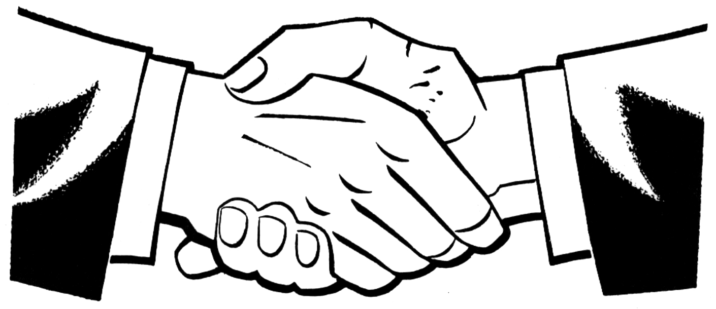 Laugphing and shaking hands clipart black an white clip black and white library Shaking hands clipart kid - Clipartix clip black and white library