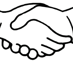 Laugphing and shaking hands clipart black an white clip art royalty free library Shaking hands handshake clipart handshake clip art clipart image 2 ... clip art royalty free library