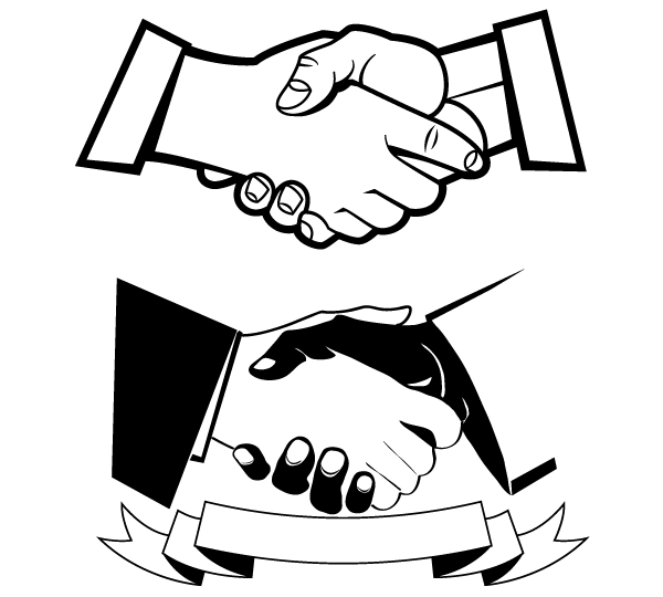 Laugphing and shaking hands clipart black an white jpg transparent stock Free Hands Shaking Clipart, Download Free Clip Art, Free Clip Art on ... jpg transparent stock