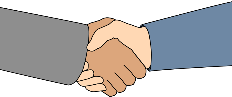 Laugphing and shaking hands clipart black an white svg free stock Handshake shaking hands hand shake clip art clipart image image 3 ... svg free stock