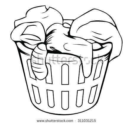 Laundry basket black and white clipart clip art transparent black washing basket – infantwear.co clip art transparent