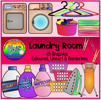 Laundry room clipart banner royalty free Laundry Room Clipart (My Home Series 2) banner royalty free