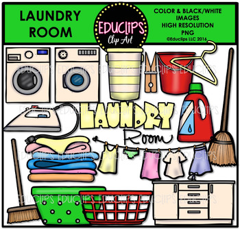 Laundry room clipart png freeuse Parts of a House~Laundry Room Clip Art Bundle {Educlips Clipart} png freeuse