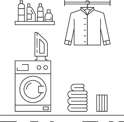 Laundry room clipart black and white vector library stock Laundry Room Clipart Black And White vector library stock