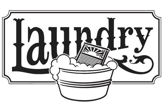 Laundry room clipart black and white clip art free library Laundry vinyl wall decal, any smooth clean surface such as glass and ... clip art free library