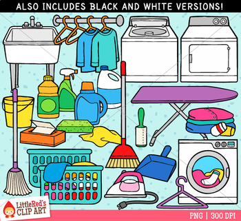 Laundry room clipart black and white vector stock Laundry Room Clip Art vector stock