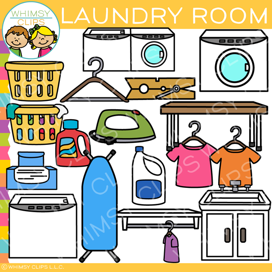 Laundry room clipart picture transparent library Pieces of Laundry Room Clip Art picture transparent library