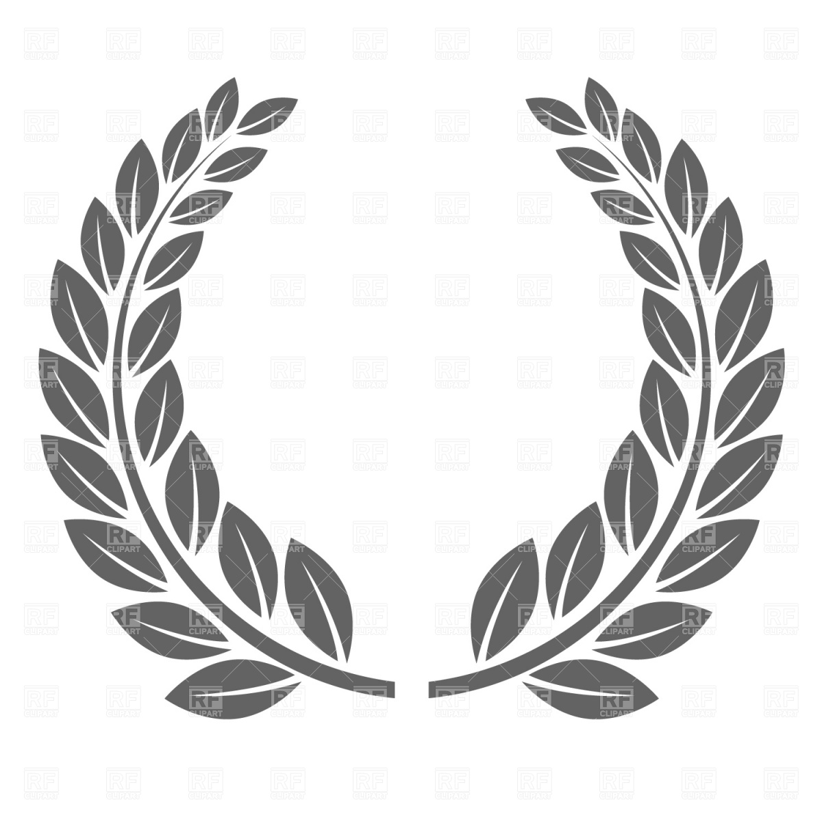 Laurel clipart black and white picture royalty free Free Laurel Wreath Cliparts, Download Free Clip Art, Free Clip Art ... picture royalty free