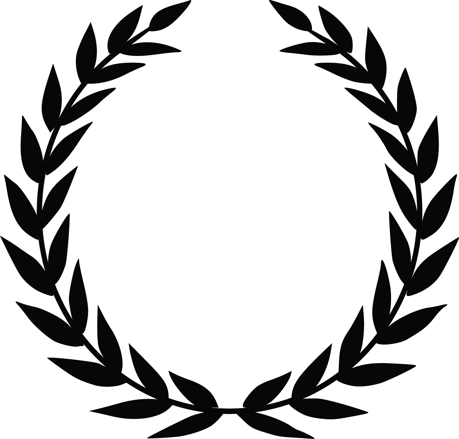 Laurel clipart black and white svg royalty free Free Laurel Wreath Cliparts, Download Free Clip Art, Free Clip Art ... svg royalty free