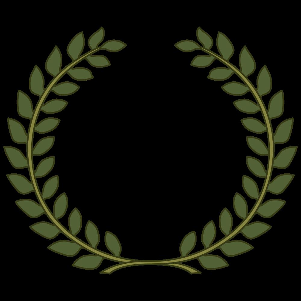 Laurel crown black and white clipart clip transparent download OnlineLabels Clip Art - Laurel Wreath, Laurel Leaf clip transparent download