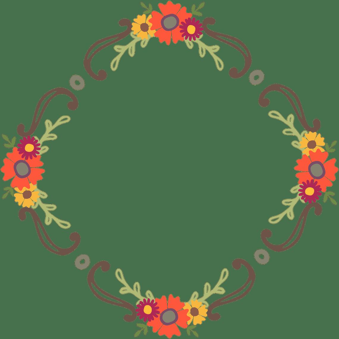Laurel flower clipart vector freeuse download Free Floral Wreaths & Laurels for Graphic Design | Starsunflower ... vector freeuse download