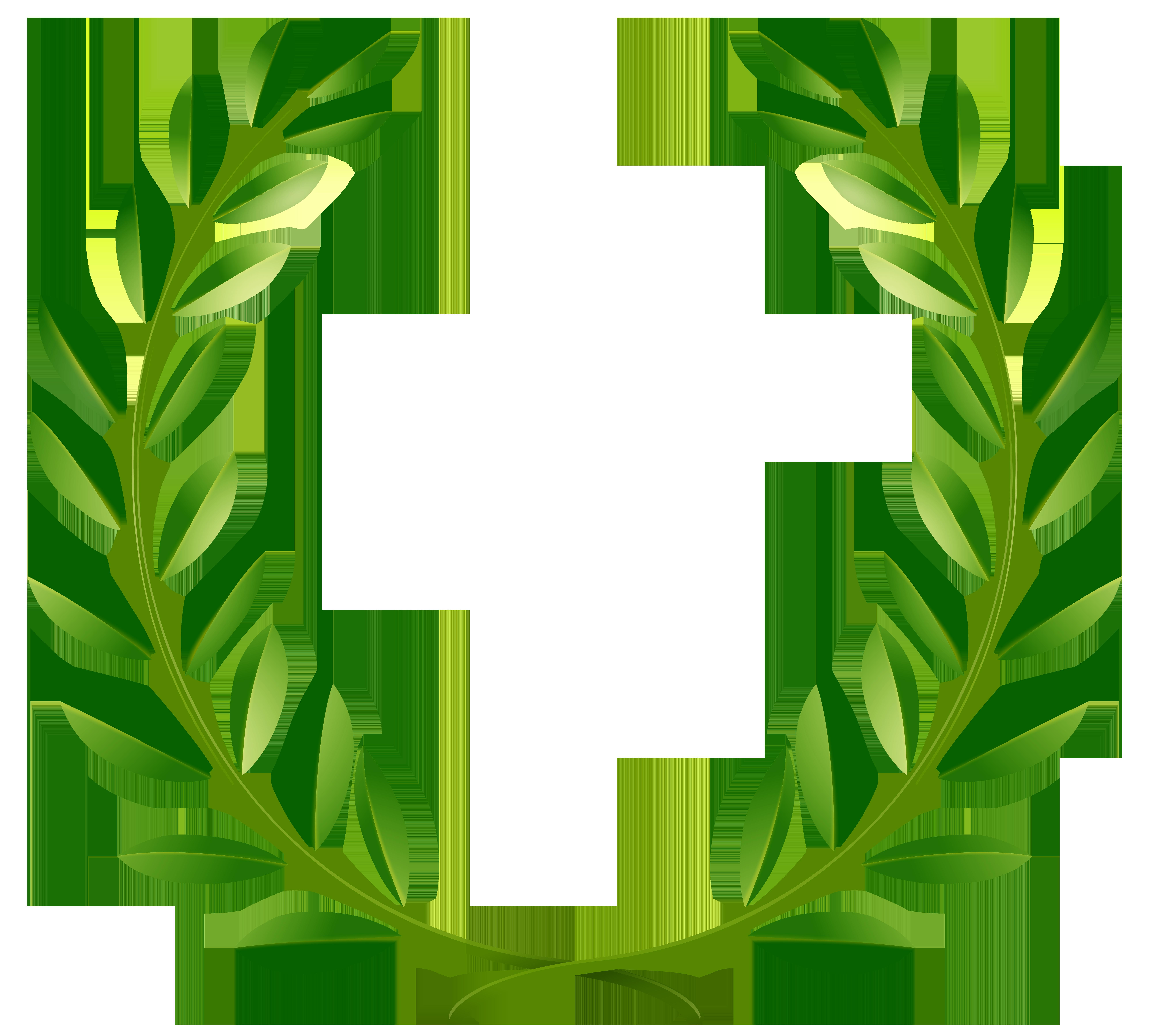 Laurel tree clipart banner royalty free download Green Laurel Leaves PNG Clip Art Image | Gallery Yopriceville ... banner royalty free download