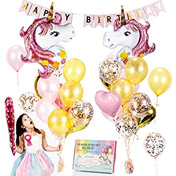 Lavender and rose gold balloon background clipart clip freeuse stock Unicorn Balloons Set - Pink & Rose Gold Unicorn Party Supplies with  Confetti & Heart balloons for a beautiful birthday bouquet or baby shower.  ... clip freeuse stock