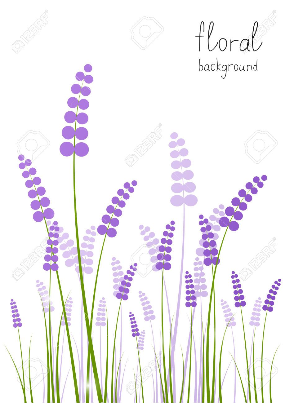 Lavender clipart vector jpg library library Lavender Flowers Background Clip Art | Lavender Clip Art | Lavender ... jpg library library