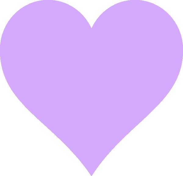 Lavender heart clipart clip black and white Light Purple Heart Clip Art at Clker.com - vector clip art online ... clip black and white