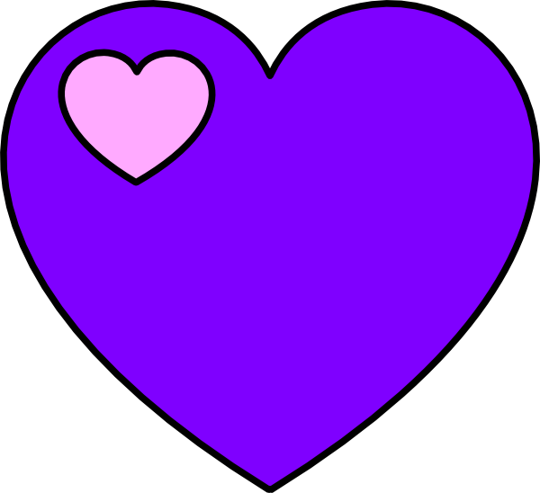 Lavender heart clipart png freeuse Lavender And Pink Heart Clip Art at Clker.com - vector clip art ... png freeuse