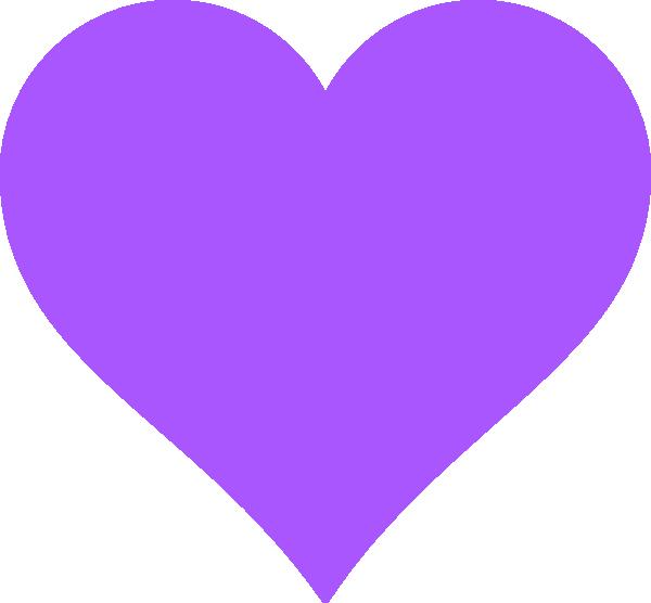 Lavender heart clipart clip stock Violet Heart Clip Art at Clker.com - vector clip art online, royalty ... clip stock