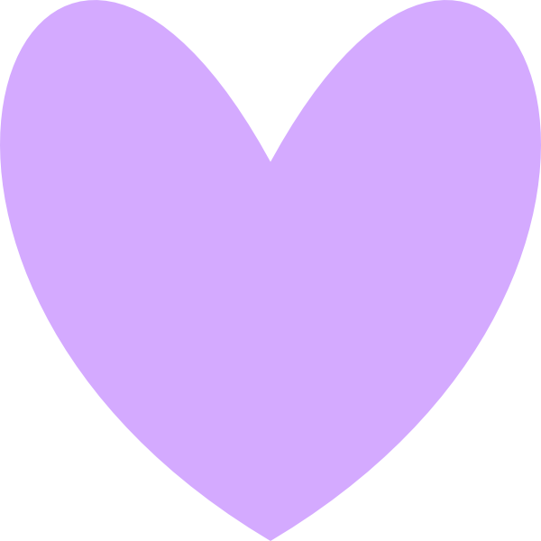 Lavender heart clipart picture free stock Orange Heart Clip Art at Clker.com - vector clip art online, royalty ... picture free stock