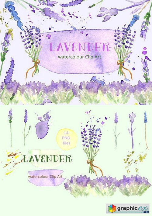 Lavender watercolor clipart clip black and white download Lavender watercolor clip art » Free Download Vector Stock Image ... clip black and white download