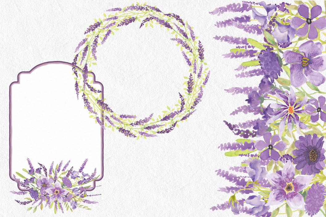 Lavender watercolor clipart jpg royalty free download Lavender watercolor clip art bundle jpg royalty free download