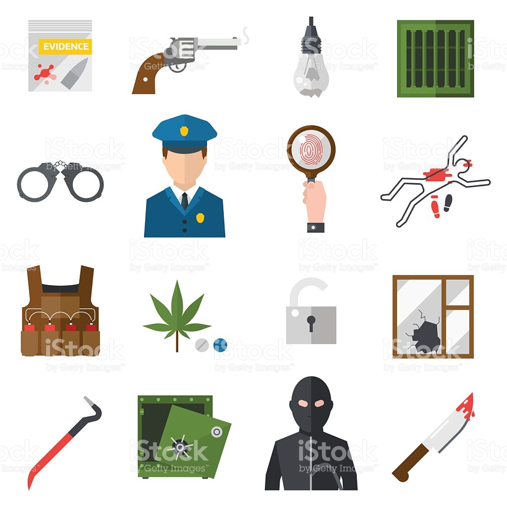 Law of blood clipart jpg library library Crime Icons Protection Law Justice Sign Security Police Gun Icon ... jpg library library
