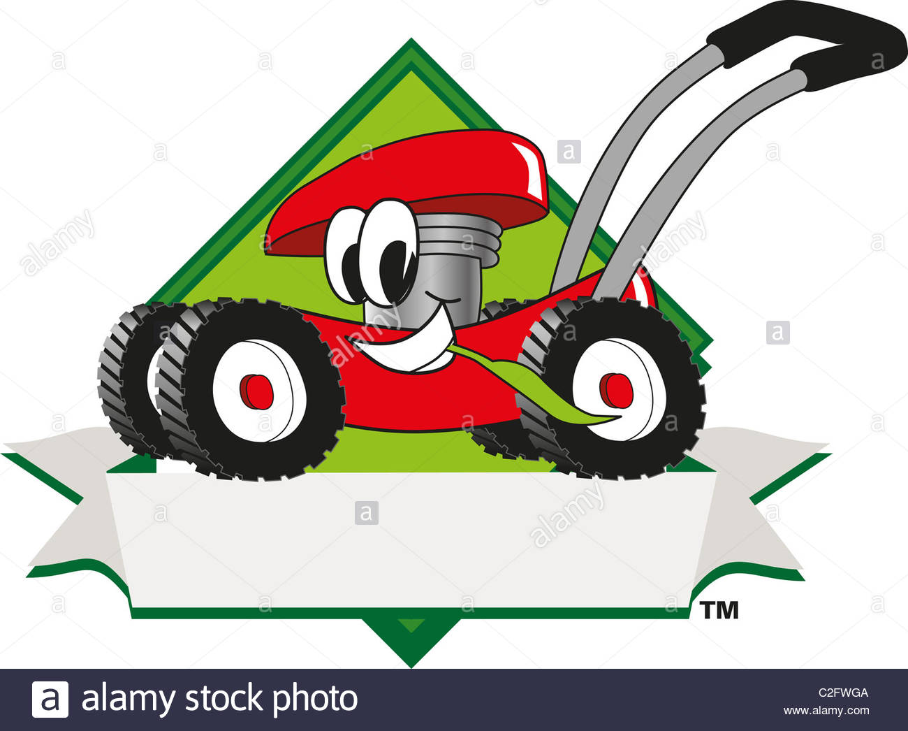 Lawn care stock clipart vector free Cartoon Lawn Mower Logo Template Stock Photo, Royalty Free Image ... vector free