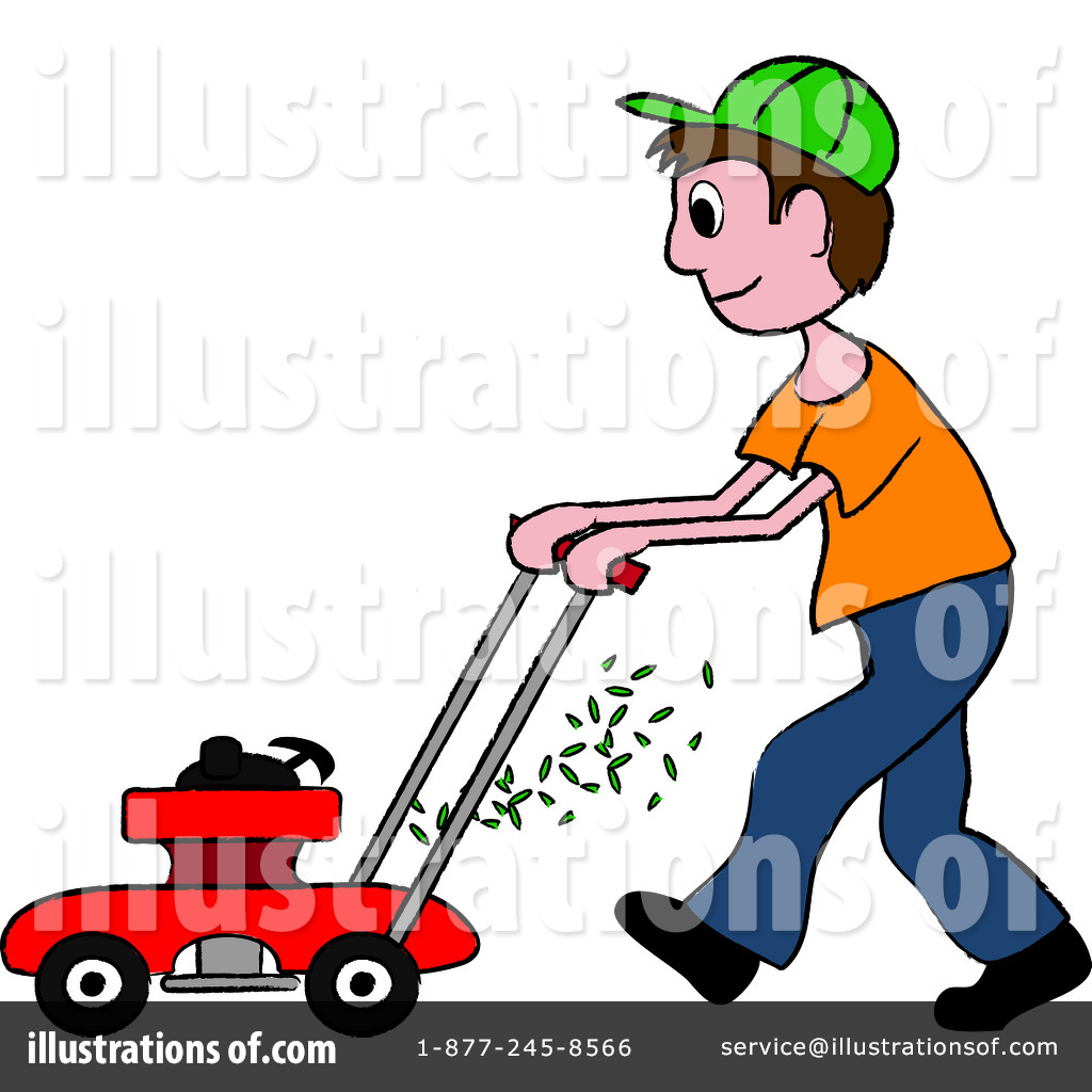Lawnmowing clipart banner transparent download Lawn Mowing Clipart #94206 - Illustration by Pams Clipart banner transparent download