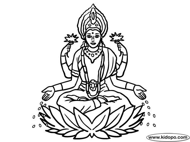 Laxmi devi clipart image freeuse Pin by Hitendra katra on Card in 2019 | Drawings, Easy ... image freeuse