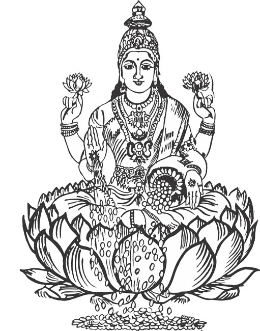 Laxmi devi clipart image black and white stock Laxmi devi clipart 10 » Clipart Station image black and white stock