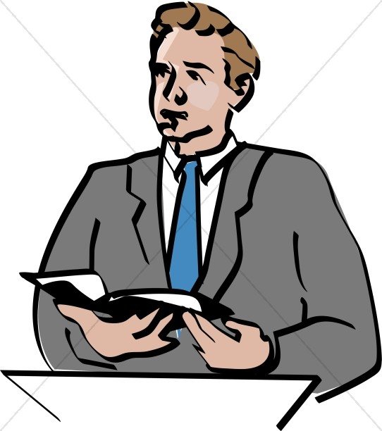Lay readers clipart picture royalty free library Lay Reader Offers Scripture Reading During Worship Service ... picture royalty free library