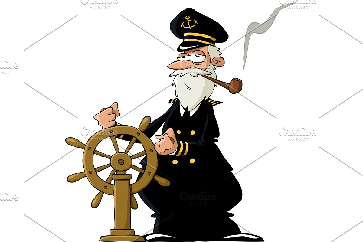 Layered cruise captain hat clipart black and white clipart library library Captain clipart library library