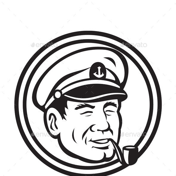 Layered cruise captain hat clipart black and white graphic stock Skipper Graphics, Designs & Templates from GraphicRiver graphic stock