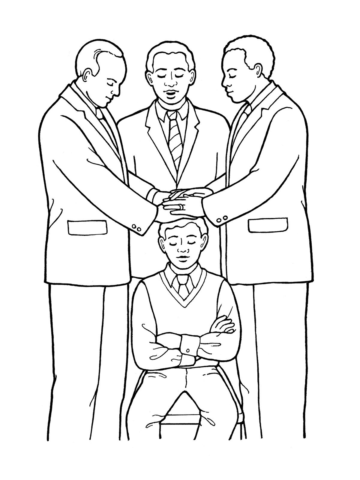 Laying on of hands clipart picture stock 5th Article of Faith—Hands picture stock
