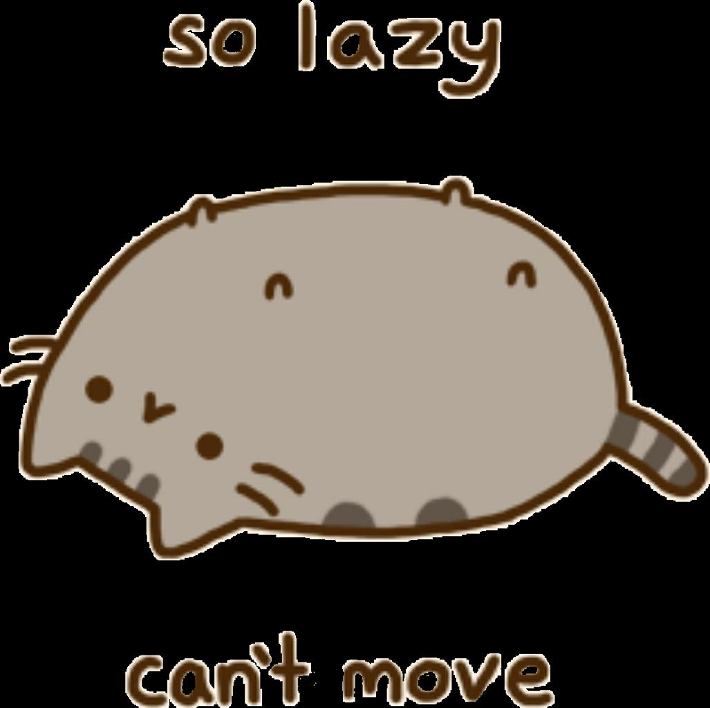 Lazy cat clipart svg transparent Pusheen pusheencat pusheenthecat lazy... svg transparent
