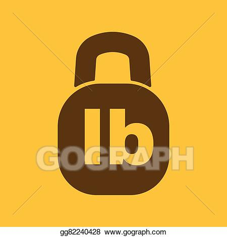 Lb clipart jpg royalty free download Vector Art - The pound icon. lb and weight symbol. flat ... jpg royalty free download