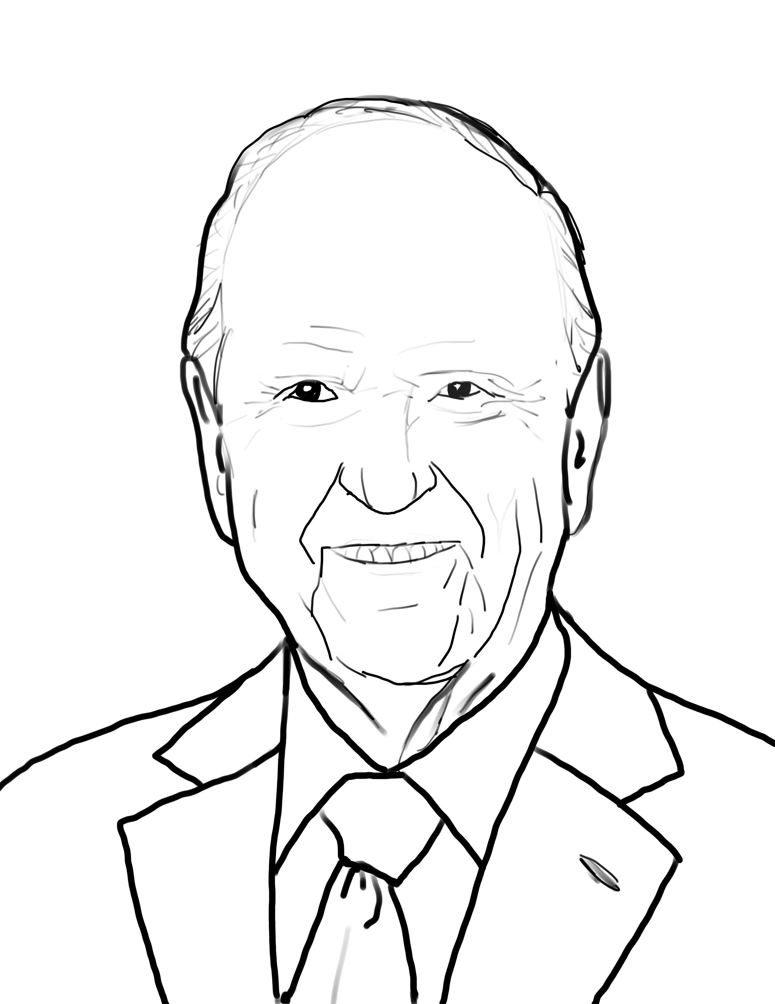 Lds black and white clipart of prophets jpg library President Russell M. Nelson coloring Page   Primary   Lds ... jpg library