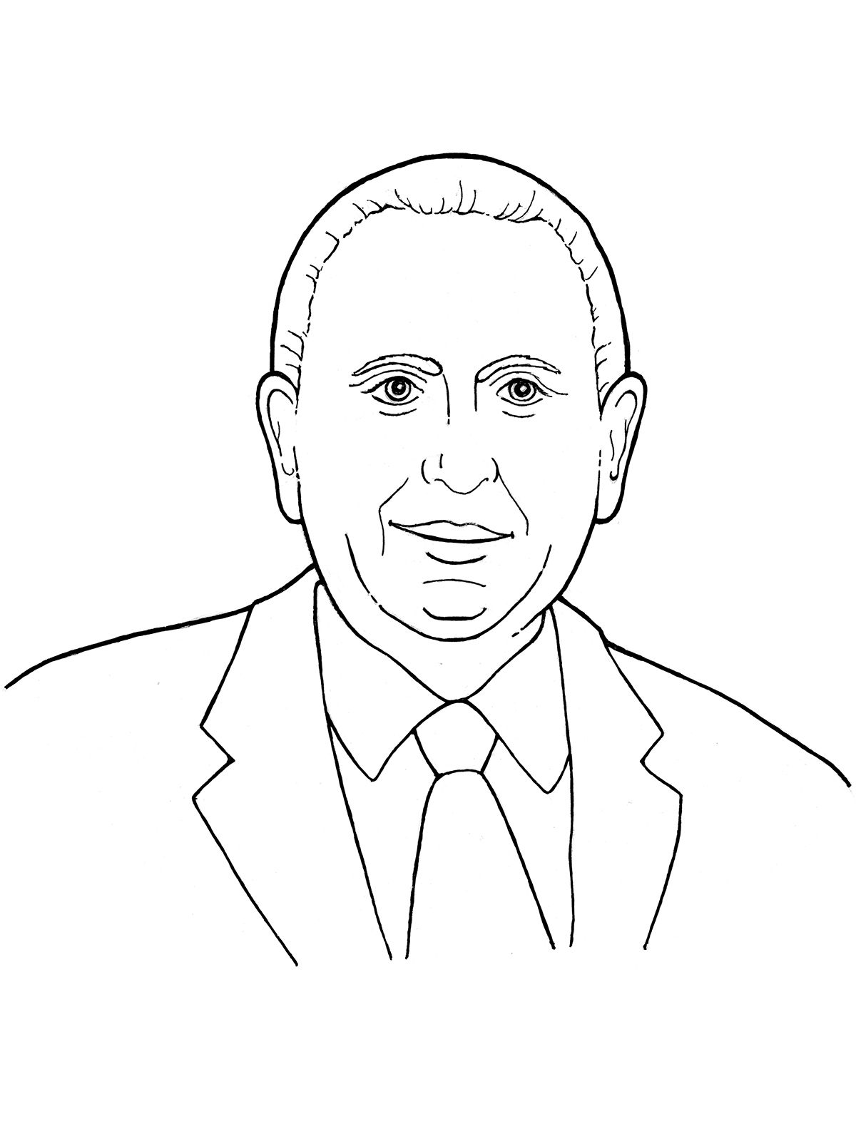 Lds black and white clipart of prophets jpg transparent download An illustration of our latter-day prophet, Thomas S. Monson ... jpg transparent download