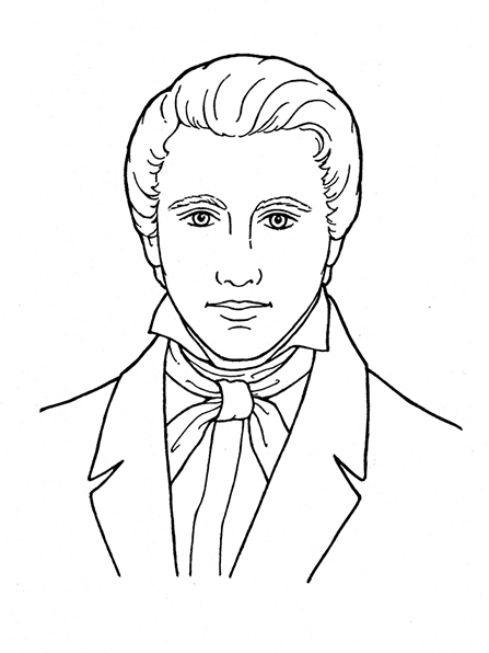 Lds black and white clipart of prophets clip black and white stock Joseph Smith: A Prophet of God clip black and white stock