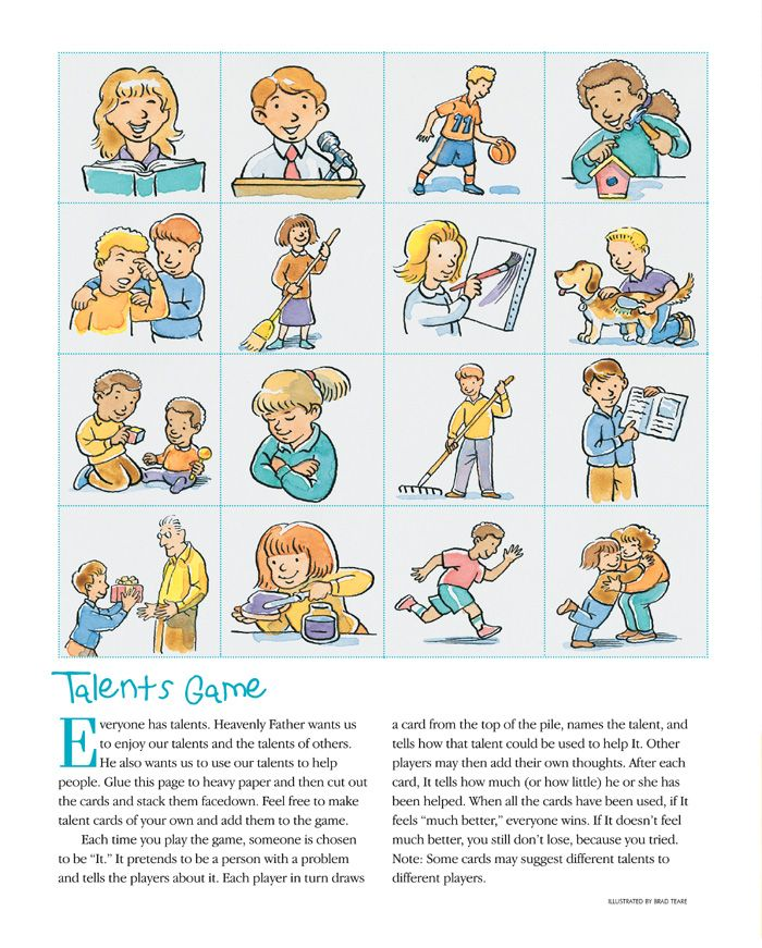 Lds clipart games for primary childrens ctr a children clipart free download Lesson 35: I Have Talents Purpose - To help each child ... clipart free download