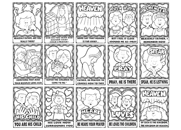 Lds clipart games of families and heavenly father graphic free stock Song: A Child\'s Prayer graphic free stock
